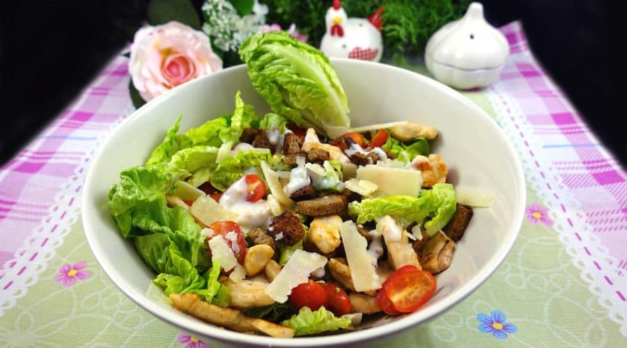 Low Carb Caesar Salad