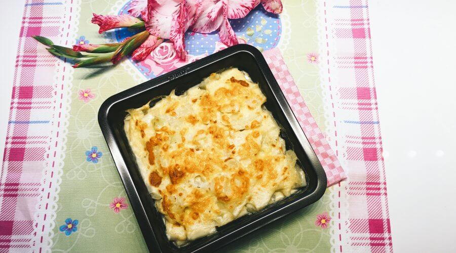 Low Carb Kohlrabi-Gratin