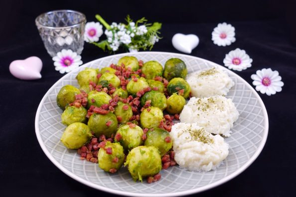 Low Carb Rosenkohl mit Speck