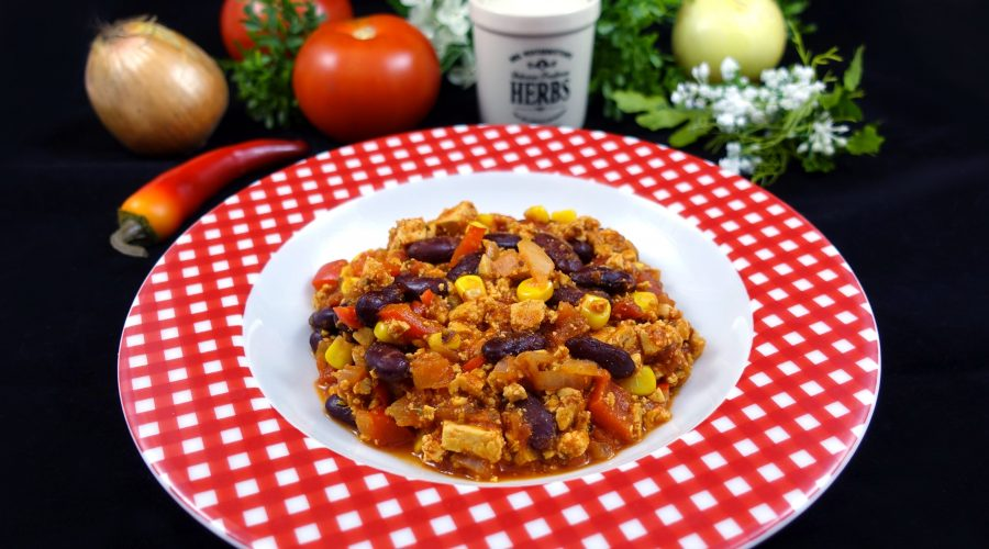 Low Carb Chili sin Carne mit Tofu